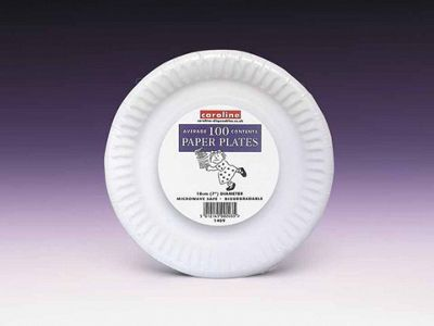 Caroline T1409 Paper Plates White 7In X100