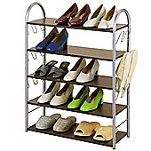 Chord - 5 Tier 21 Pair Shoe Storage Shelves - Dark Oak