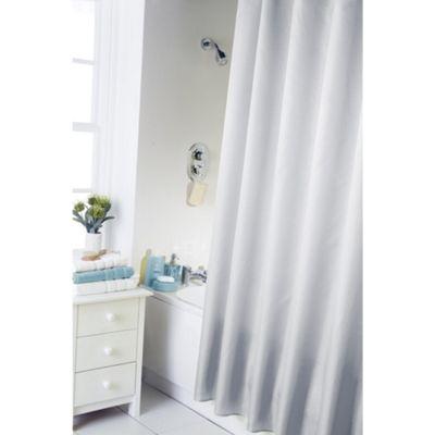 Hamilton McBride Essentials Plain Shower Curtain & Rings Set - White