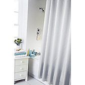Home Creations Waterline Dyed Shower Curtain - White