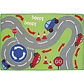 Beep Beep, Transport Play Rug - 60 x 90 cm