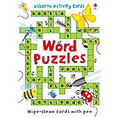 Usborne Wipe Clean Word Puzzles Activity Cards