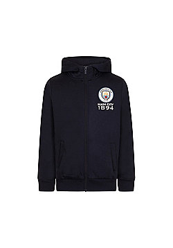 Manchester City FC Boys Zip Hoody - Blue