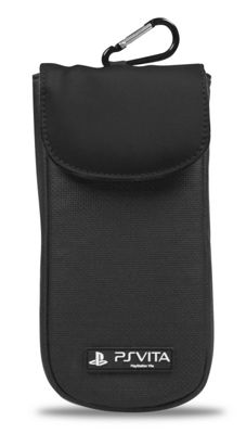 PS Vita Carry Case - 4Gamers Clean n Protect Pouch (Black)