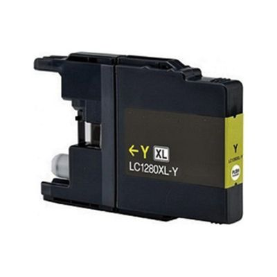 Brother LC1280XLY Yellow Compatible High Yield Ink Cartridge
