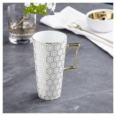 buy fox ivy soho white latte mug from our fox ivy soho. Black Bedroom Furniture Sets. Home Design Ideas