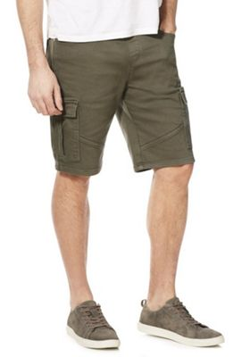 F&F Knitted Cargo Shorts Blue 30 Waist