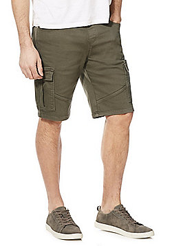 F&F Knitted Cargo Shorts - Blue