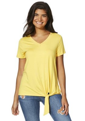 F&F Knitted Trim Knot Detail Top Yellow 8