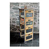 Ultimum Timeless Workshop Tallboy File Cabinet with Chalkboard Drawers