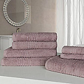 Highams Luxury Egyptian Cotton Towel Bale 7 Piece - Heather