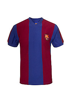 FC Barcelona Mens 1974 1979 Retro Shirt - Claret