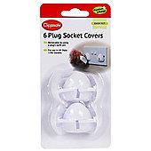 Clippasafe UK Style Plug Socket Covers - 6 Pack