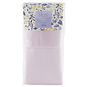 Tesco Cot Bed 2 Fitted Sheets, Pink