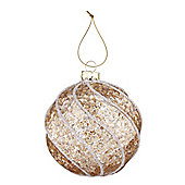 Gold Spiral Christmas Bauble