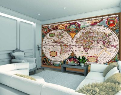 Buy 1wall antique world map wall mural from our wallpaper range 1wall antique world map wall mural gumiabroncs Choice Image