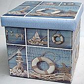 Seaside View, Nautical Storage Box and Seat