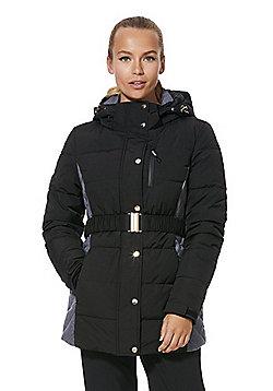 F&F Active Padded Belted Ski Jacket - Black