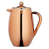 KitchenCraft Le'Xpress 8-Cup Insulated Metal Cafetière, Copper Finish