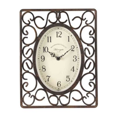 Outside In Harrogate Wall Clock 30in