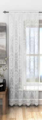 Holly Lace Panel, White 55x72