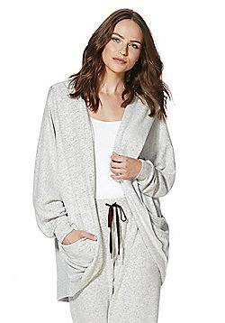 F&F Lightweight Knit Lounge Cardigan - Grey