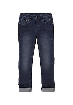 F&F Wrinkle Detail Soft Touch Skinny Jeans - Dark wash