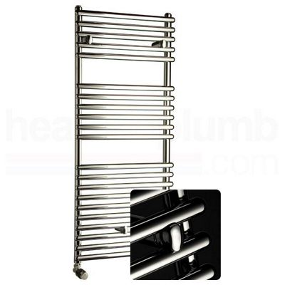 DQ Heating MS25 Straight Ladder Towel Rail 1749mm High x 810mm Wide