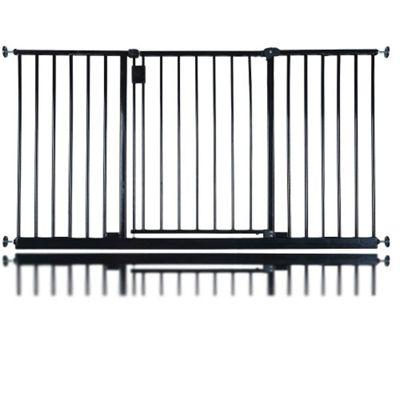 Safetots Extra Wide Hallway Pet Gate Black 147 - 153cm