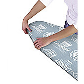 Country Club Printed Ironing Board Cover, Laundry Blue Design