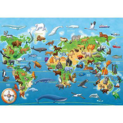 Endangered Animals - Giant Floor Puzzle - 60pc