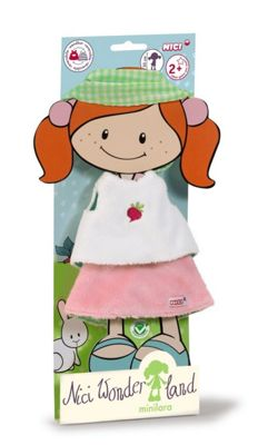 Nici MiniLara NICI Wonderland 30cm Shirt Skirt and Hair Ribbon for Doll - Toys/Games