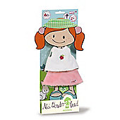 Nici MiniLara NICI Wonderland 30cm Shirt Skirt and Hair Ribbon for Doll - Toys/Games