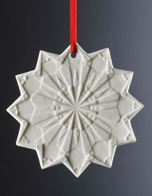 Weimar Snow Star Christmas Tree Decoration (Set of 2)