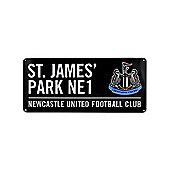 Newcastle United FC St James Park Street Sign - Black