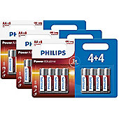 24 x Philips AA Power Alkaline LR6 Long Lasting Batteries