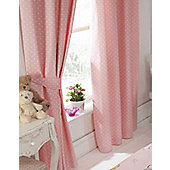 Float Away, Pink Polka Dot Curtains 72s
