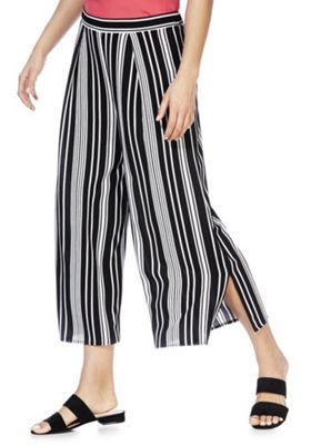 F&F Striped Culottes Black/White 20