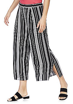 F&F Striped Culottes - Black/White