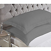 Julian Charles Luxury 180 Thread Count Oxford Pillowcases - Charcoal