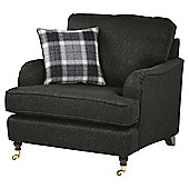 Carrington Armchair, Dark Grey