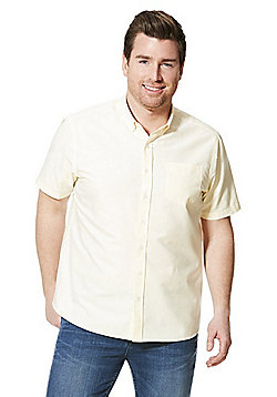 Jacamo Short Sleeve Oxford Shirt - Yellow