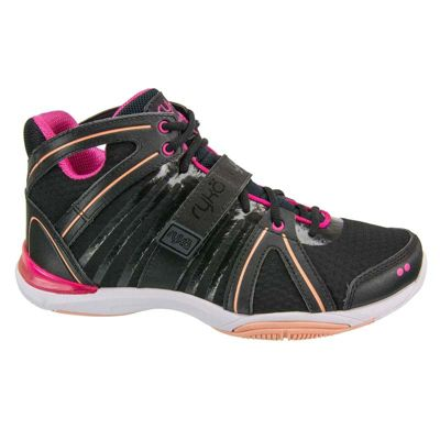 Women's Ryka Tenacity Cross Trainers Black-Pink 4.5