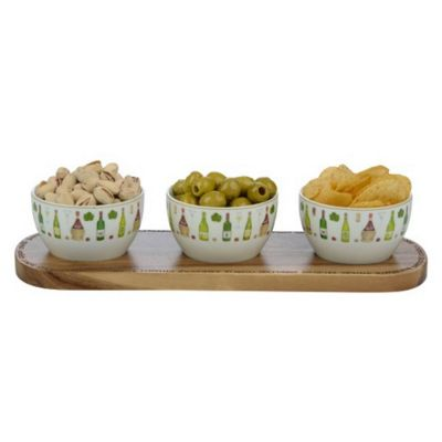 BIA Wine Cellar Porcelain Nibbles Bowl Set by Clare Mackie