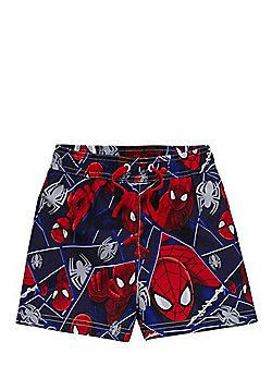 Marvel Spider-Man Print Swim Shorts - Red & Blue