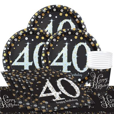 Sparkling Celebration 40th Birthday Party Pack - Value Party for 8