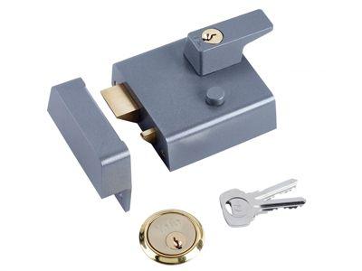 Yale Locks P1 Double Security Nightlatch 60mm Backset DMG Dark Grey Finish Visi