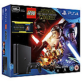 PS4 Slim 500GB LEGO Star Wars and The Force Awakens (Blu-ray) Console Bundle Black (D Chassis)