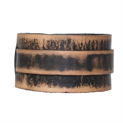 Urban Male Brazos Distressed Brown Leather Men's Cuff Style Bracelet 45mm