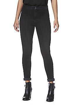 F&F Super High Rise 4 Way Stretch Skinny Jeans - Black